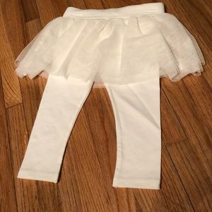 Oshkosh B'Gosh White Glitter Skirt with Leggings